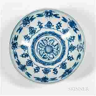 Blue and White Low Bowl