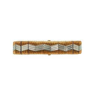 Michael Bondanza 18kt Gold and Platinum Bracelet