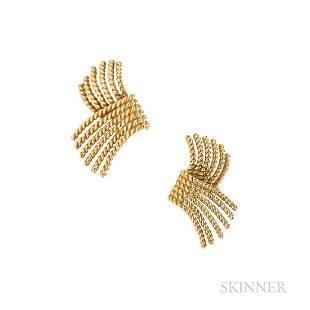 """Tiffany & Co., Schlumberger """"V-Rope"""" Earrings"""