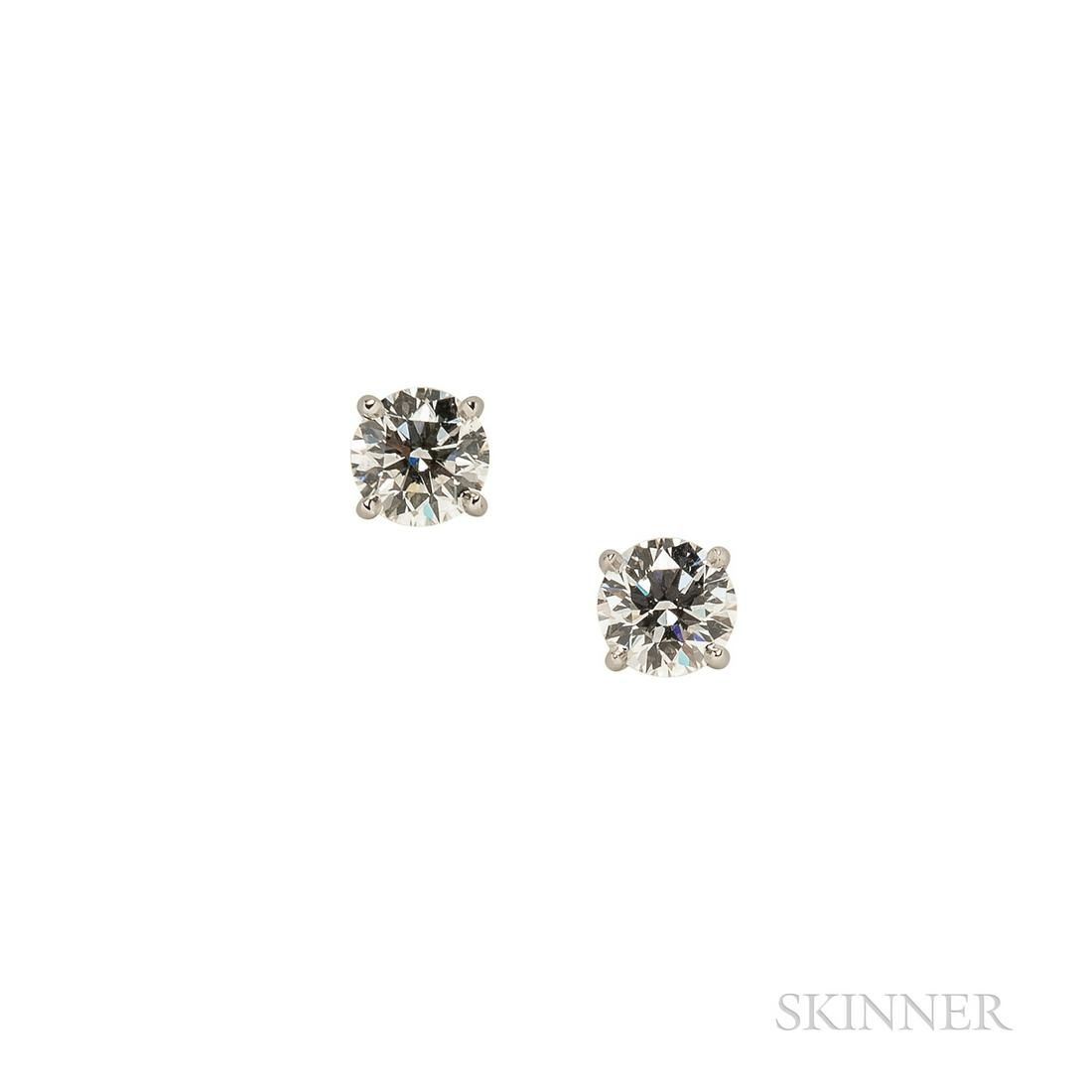 Tiffany & Co. Platinum and Diamond Earstuds
