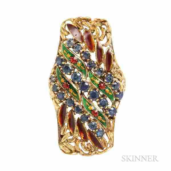 Gold Gem-set Ring