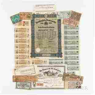 Three German Bond Sheets/Documents, Jamieson Oil Co.
