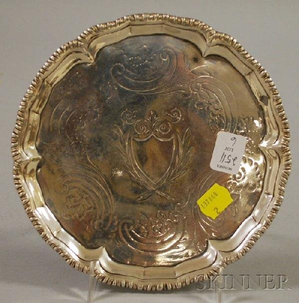 6: Sterling Silver Footed Salver, Dublin, Ireland, c. 1