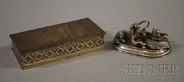 11: Sterling Silver Tiffany Box and Figural Hunting Gro