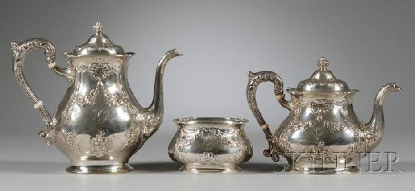 19: Gorham Three-Piece Sterling Silver Tea and Coffee S