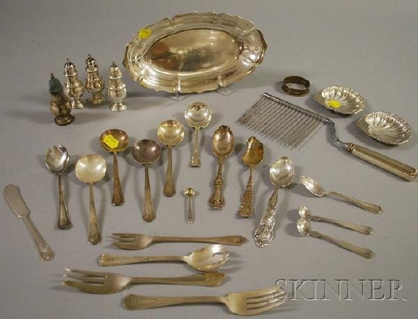 22: Approximately Twenty-seven Sterling Silver Flatware
