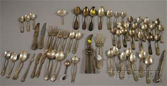 109: Group of Assorted Coin and Sterling Silver Flatwar