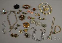 229 Small Group of Mostly Signed Costume Jewelry incl