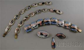 280: Group of Norwegian Guilloche Enamel and Sterling S