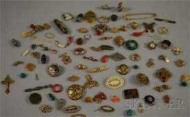 339: Small Group of Victorian and Costume Jewelry, incl