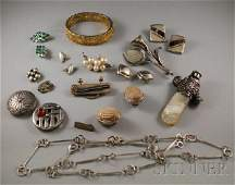 346: Small Group of Mostly Sterling Silver Jewelry, inc