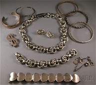 355 Group of Sterling Silver Jewelry including a Mexi
