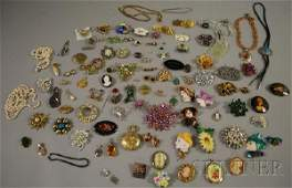 548: Assorted Group of Mostly Costume Jewelry, includin