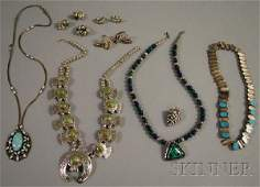 563: Small Group of Southwestern Silver and Hardstone J