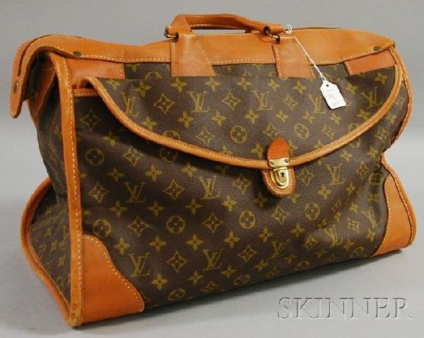 623: Vintage Louis Vuitton Monogrammed Leather Satchel