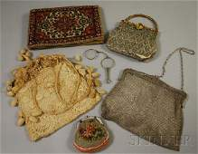 684: Group of Victorian Lady's Items, three embroidered