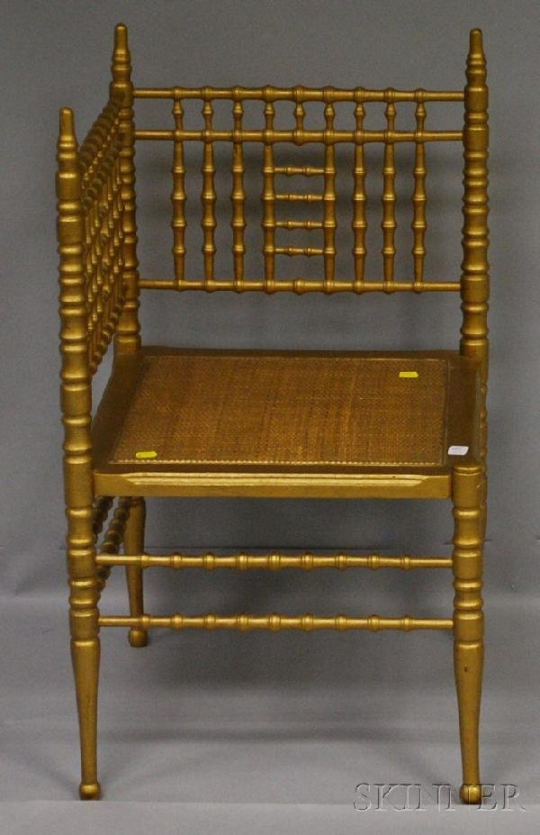720: Gold-painted Victorian Aesthetic Faux Bamboo Corne