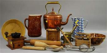 833 Group of Assorted Ceramic Wooden and Metal Kitch