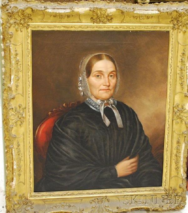911: 19th Century American School Oil on Canvas Portrai
