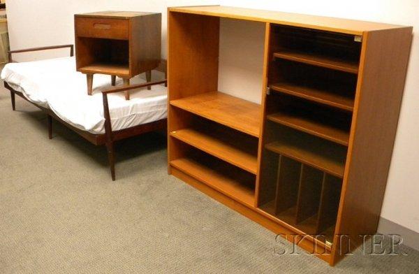 1156: Modern Teak Entertainment Unit, a Sofa, and an En
