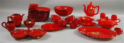 1173: Three Pieces of Henroit Quimper Tableware and a M