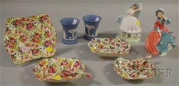 1196 Six Pieces of Royal Winton Tableware Two Royal D