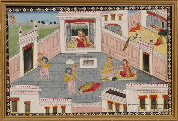 1: Miniature Painting, India, 19th century, Rajputana n
