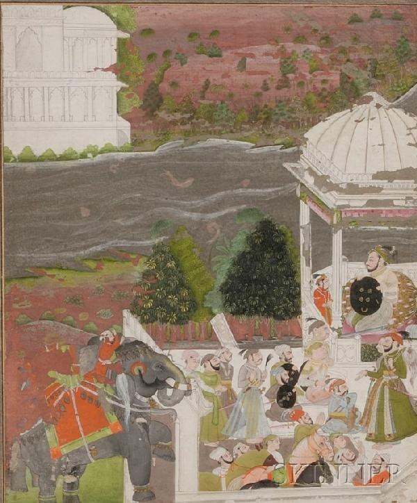 4: Indian Miniature Painting, 19th century, ink, colors