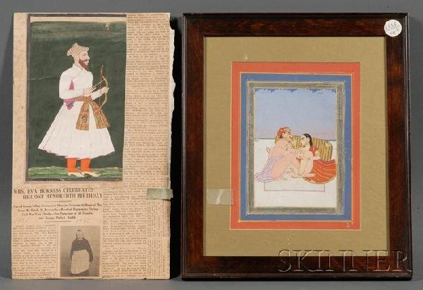 5A: Two Miniature Paintings, Indian School, 19th centur