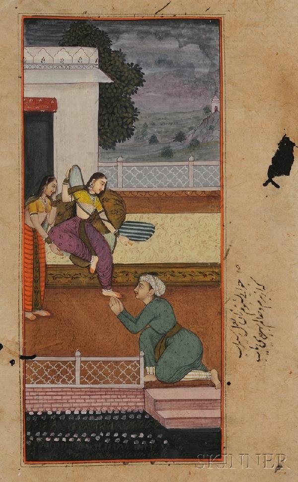10: Indian Miniature Painting, 19th century, ink, color