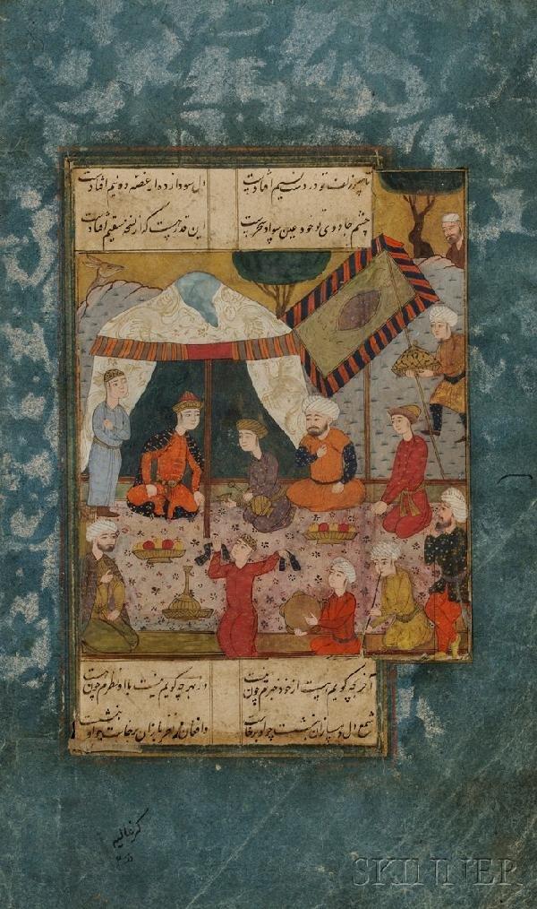 11: Miniature Painting, Persia, Safavid, 17th century,