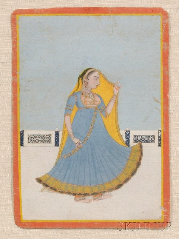 13: Miniature Painting, India, 18th century, ink, color