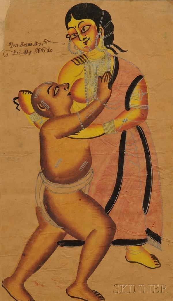17: Kalighat Painting, Indian School, 19th century, dep