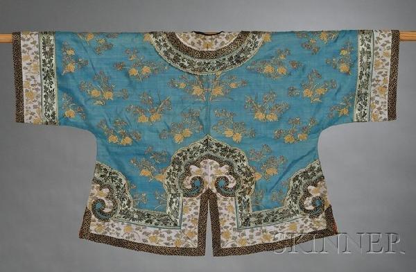 690: Kesi Robe, China, late 19th century, flower sprigs