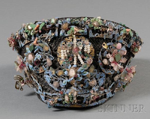 697: Kingfisher Feather Court Woman's Headdress, China,