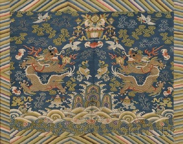 711: Dragon Tapestry, China, 19th century, kesi work, d
