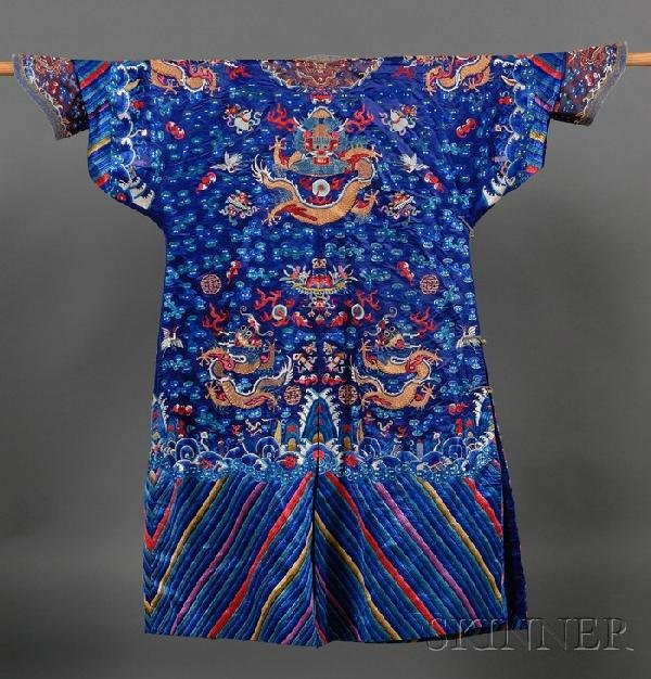 714: Dragon Robe, China, late 19th century, embroidered