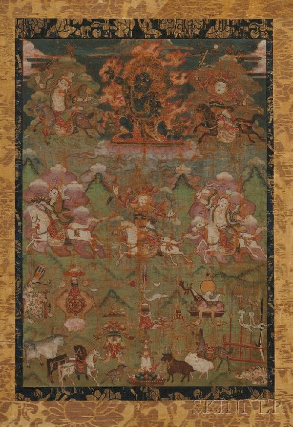 720: Thangka, Tibet, 18th century, gouache on heavy clo