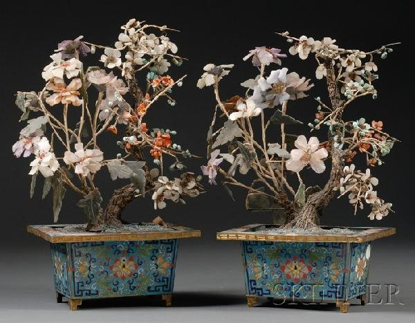 957: Pair of Planters, China, 19th century, each cloiso