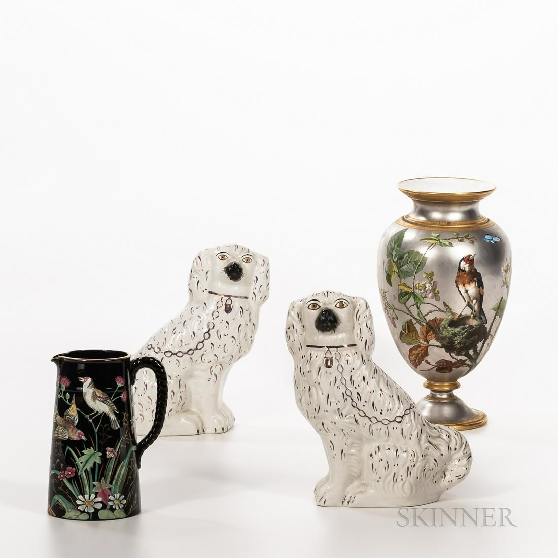 Four Victorian Pottery Items, 19th century, a