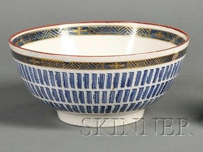 5: Worcester Porcelain Music Pattern Bowl, England, c.