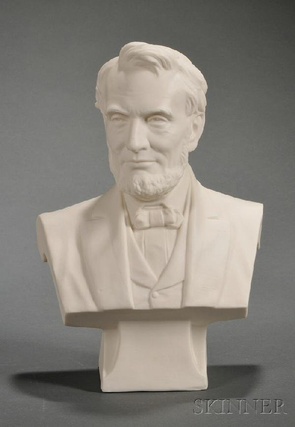 11: Cook Parian Bust of Lincoln, Trenton, New Jersey, l