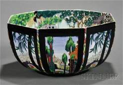 416: Wedgwood Fairyland Lustre Octagonal Bowl, England,