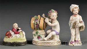 571 Three Small Continental Figural Porcelain Articles