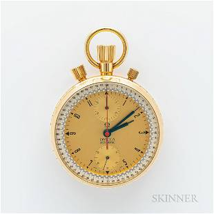 Omega 18kt Gold Split-second Chronograph Olympic Watch