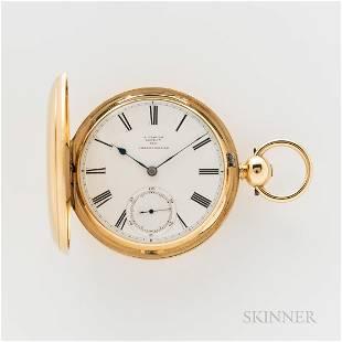18kt Gold John Glover Hunter-case Chronometer Watch