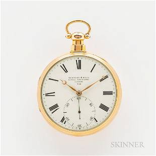 Bentley & Beck Oversized 18kt Gold Open-face Watch with
