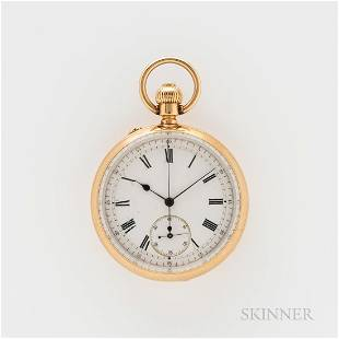 Charles Frodsham & Co. 18kt Gold Open-face Chronograph