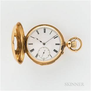 18kt Gold Demi-hunter Case Quarter-hour-repeating Watch