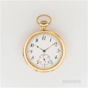 18kt Gold Jules Renaud Open-face Minute-repeater Watch